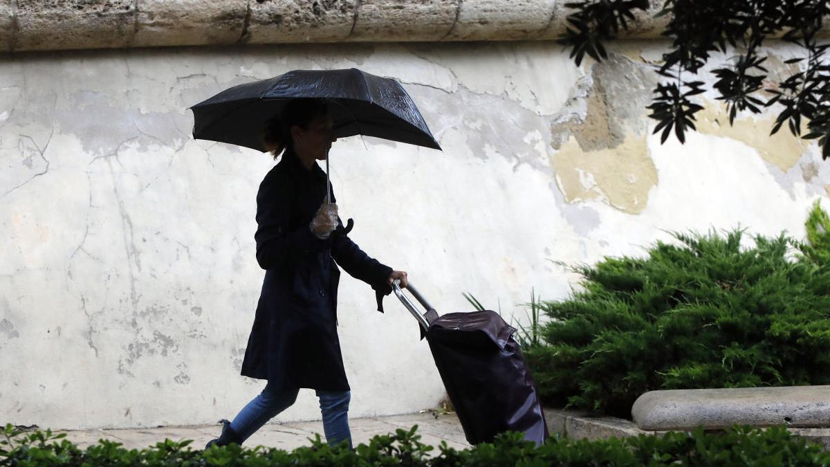 El tiempo en Valencia hoy: lluvia y amenaza de granizo.