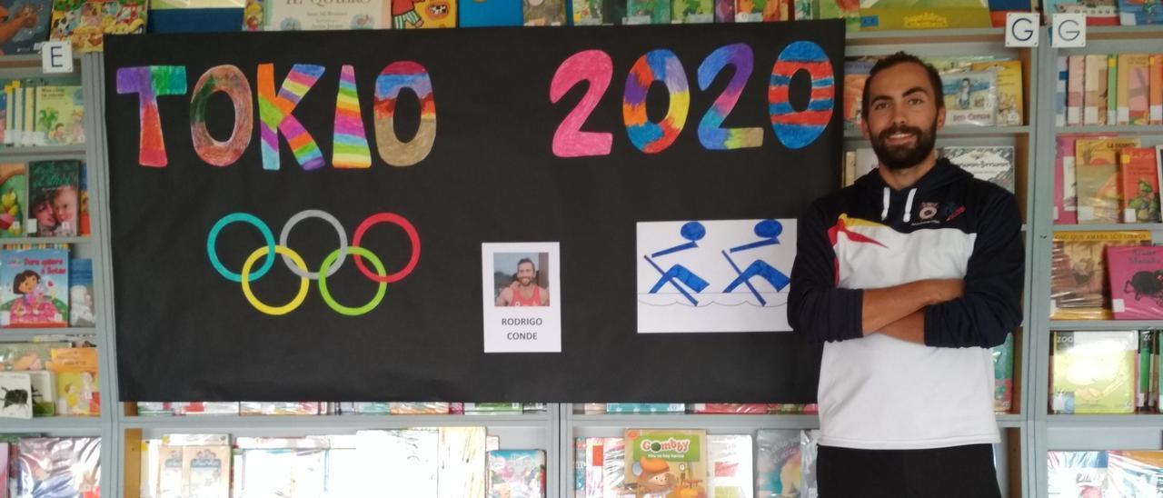 Rodrigo Conde recibió el apoyo del Concello de Moaña y el CEIP Seara en su camino hacia Tokio 2020 SANTOS ÁLVAREZ