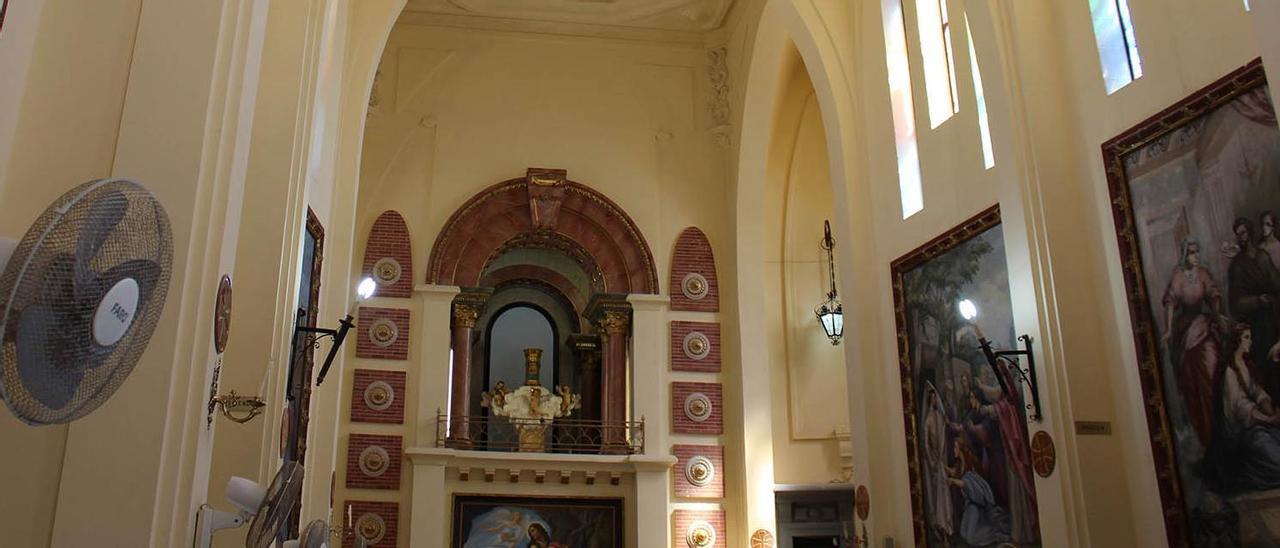 El interior del templo tras finalizar las obras.