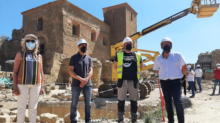 La restauración del castillo de Montearagón saca a la luz importantes restos arqueológicos