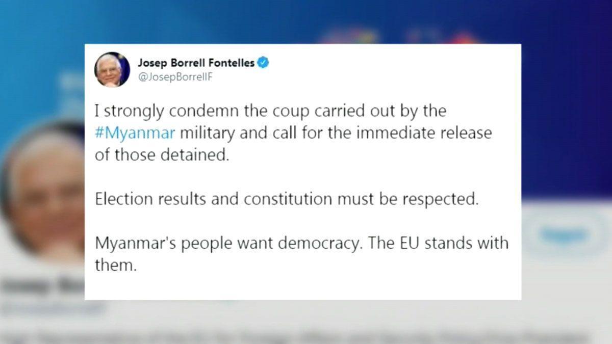 La UE encabeza la condena internacional al golpe de Estado en Birmania