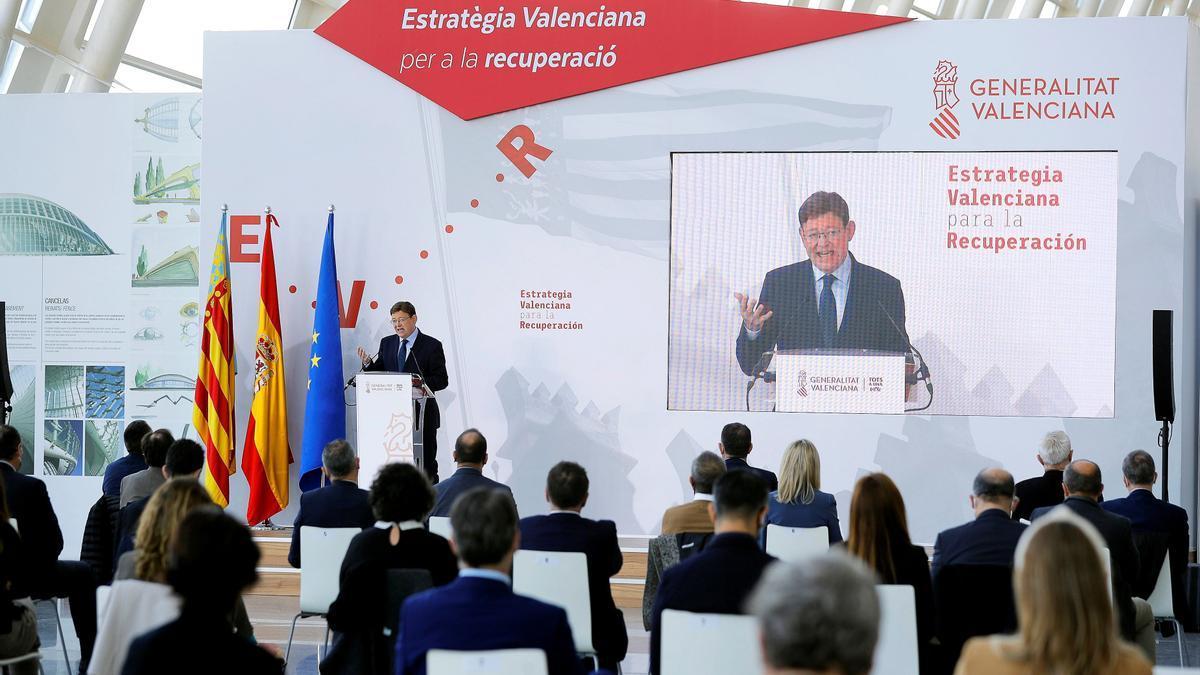 Ximo Puig ha presentado la Estrategia Valenciana de la Recuperación
