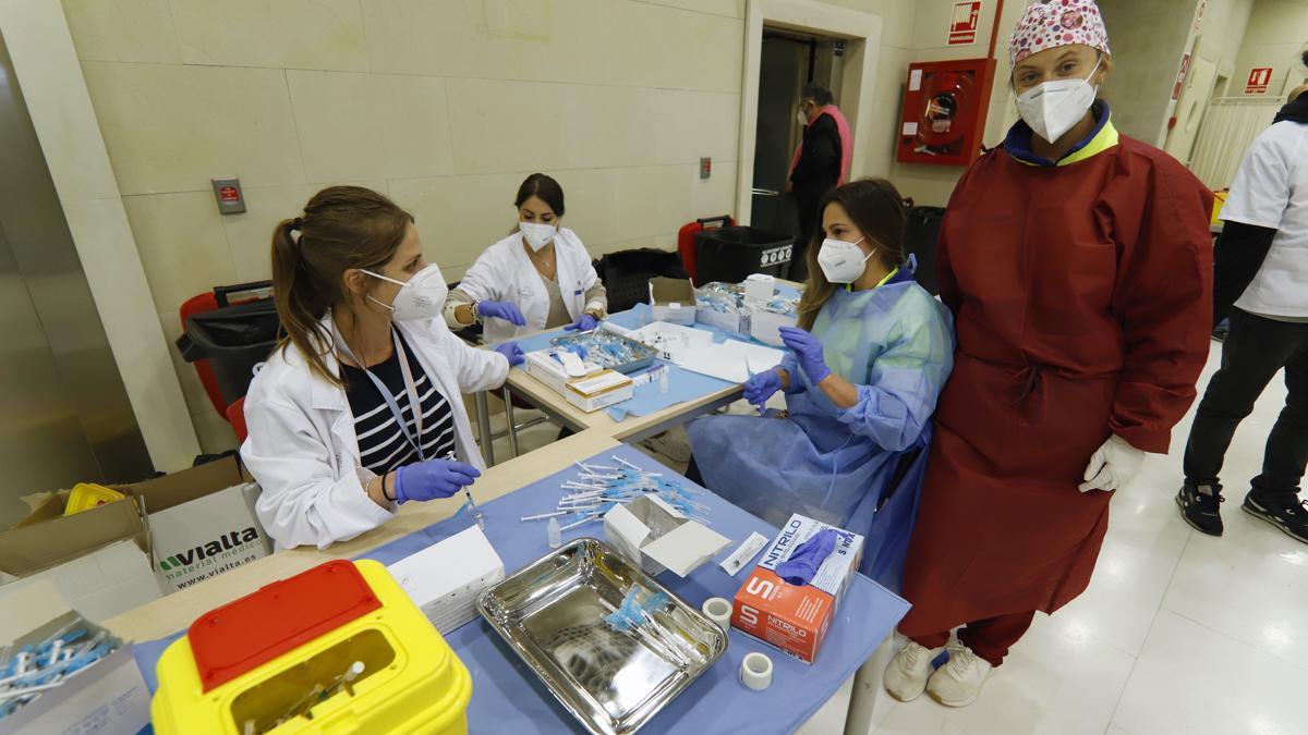 Vacunación en Nueva Condomina.
