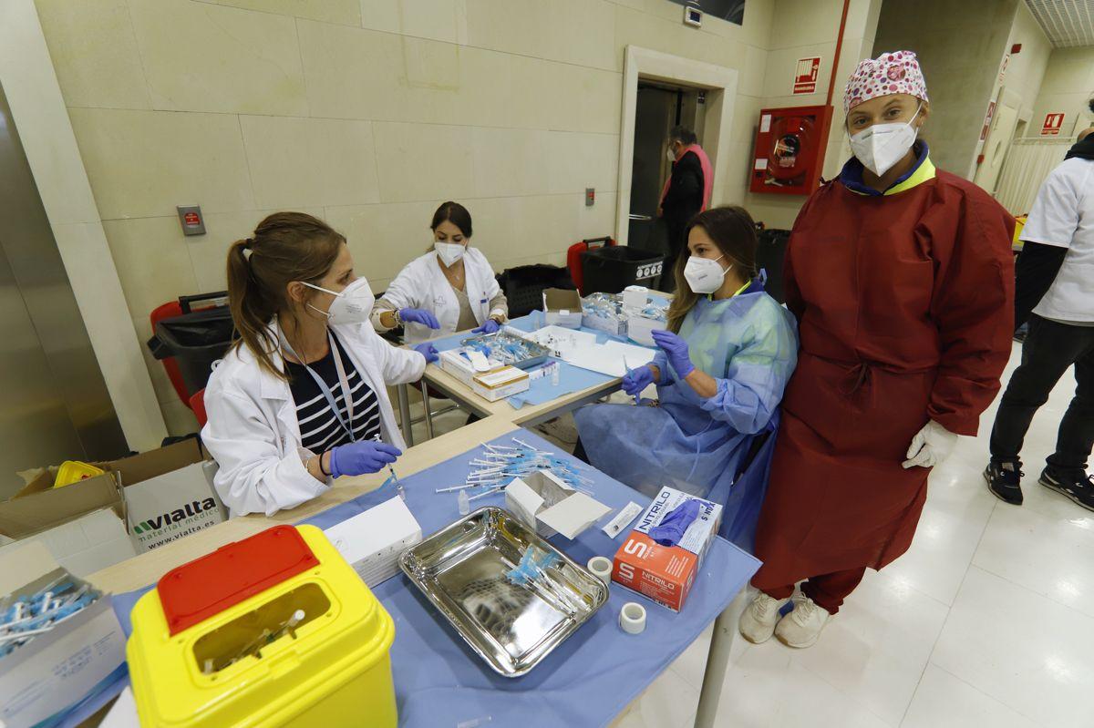 Vacunación en Nueva Condomina