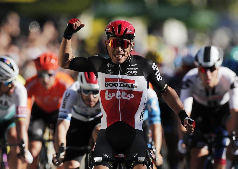 Caleb Ewan gana al sprint la 3ª etapa del Tour