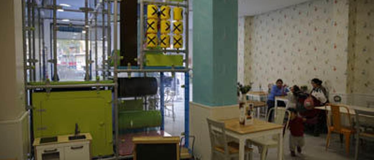 El local está decorado con especial atención al color, siempre en tonos pastel.