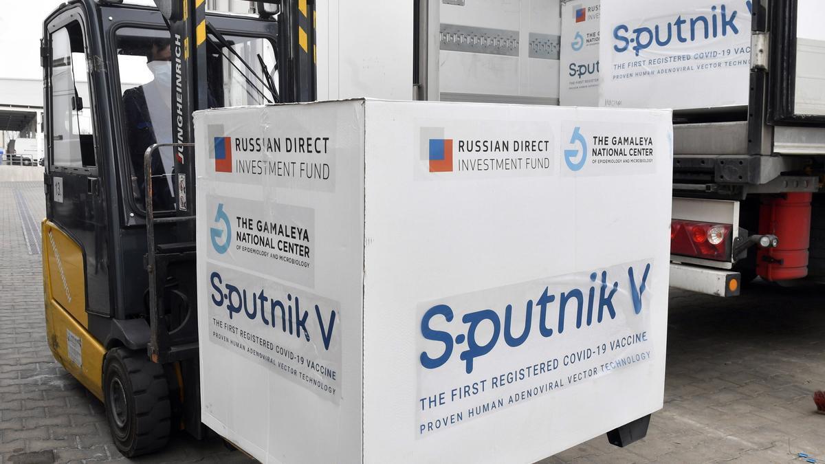 Un cargamento de Sputnik V.