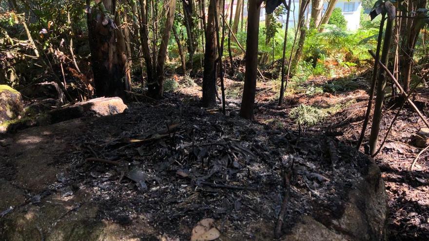 Un incendio en Nerga en la noche de San Juan y cinco alcoholemias entre Cangas y Moaña