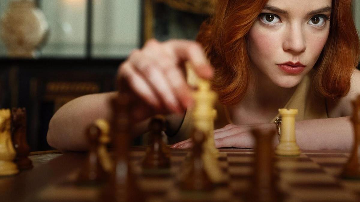 Fotograma de 'Gambito de dama'.