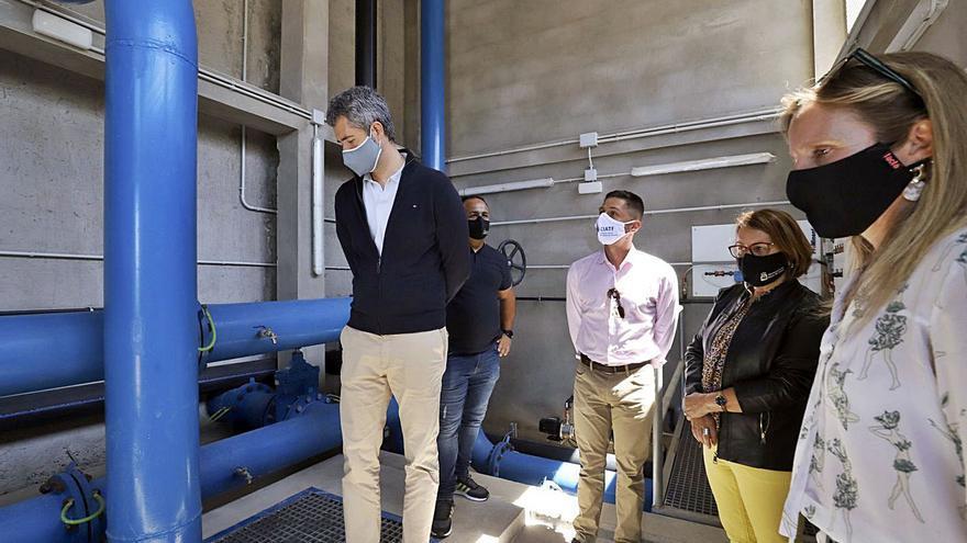 El Cabildo invierte 1,8 millones en el depósito de agua desalada de Alcalá