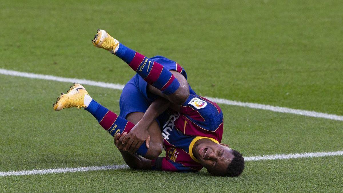 Ansu Fati viaja a Lyon para conocer otra opinión médica sobre su rodilla