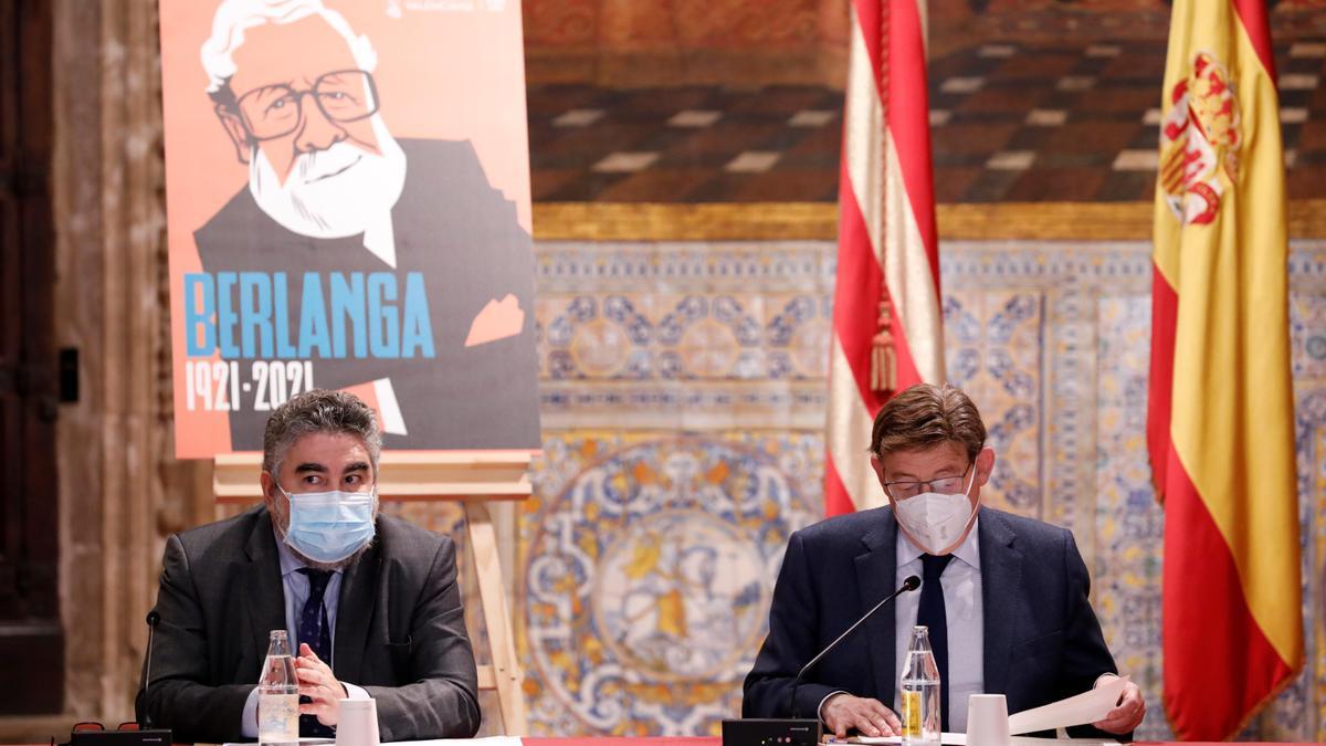 El ministro Uribes y el presidente Ximo Puig.