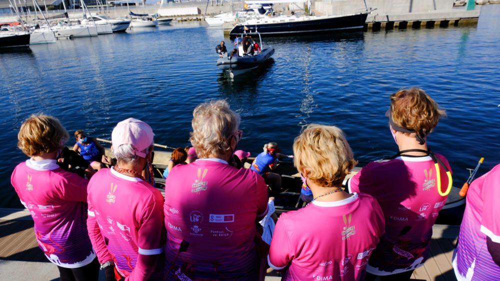 Las imágenes de la regata de invierno de remo de banco fijo 'Ciudad de Málaga'