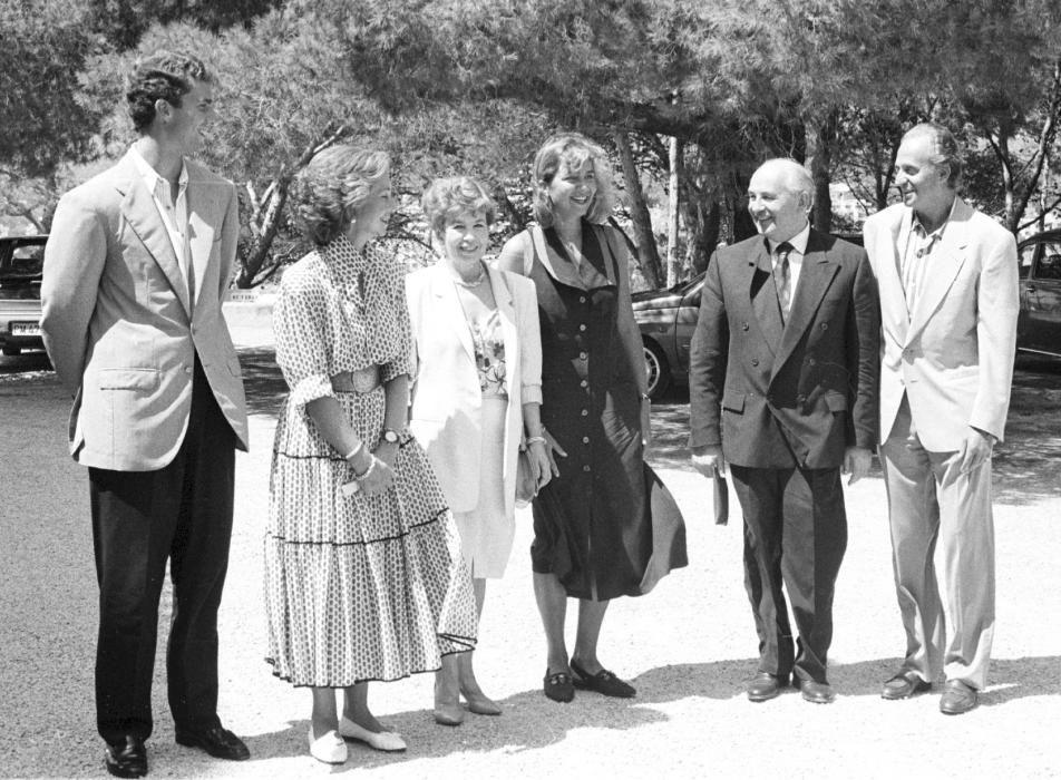 Los reyes eméritos con Mikhail Gorbachev y Raisa en Marivent
