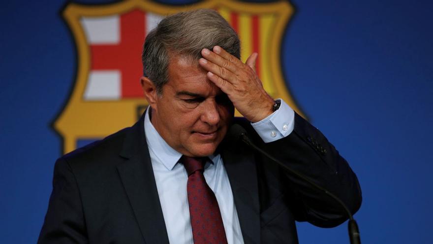 El Barça revela que estava en fallida a l'abril
