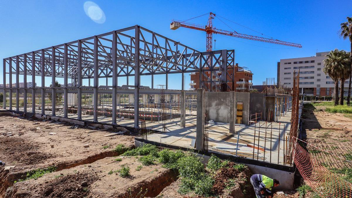 La obra de la piscina de la margen derecha de Badajoz está ejecutada al 24%