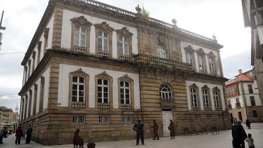 La reforma del Concello recupera la fachada de la rúa Alhóndiga como entrada principal