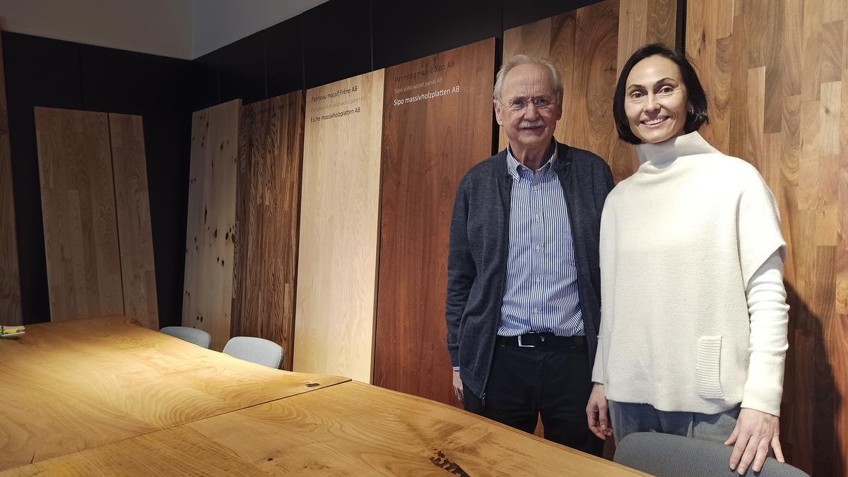 Pedro Martínez y Susana Martínez, en las instalaciones de Argüelles (Siero)