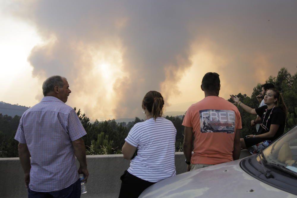 Portugal respira tras controlar el incendio de Oleiros, pero sigue en alerta