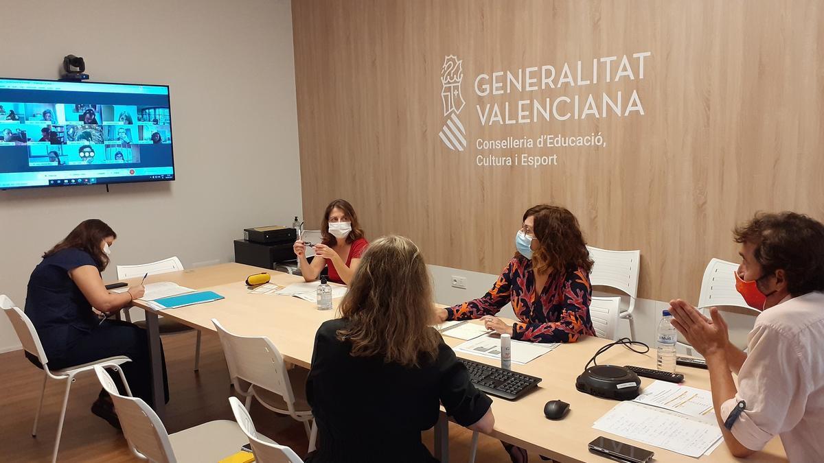 Miembros de la Junta Qualificadora de las pruebas de Valenciano