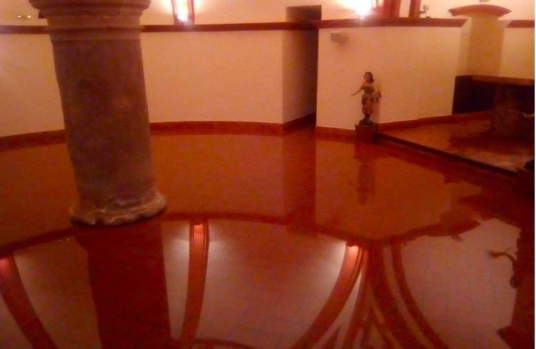 La cripta de la iglesia de San Felipe, anegada.