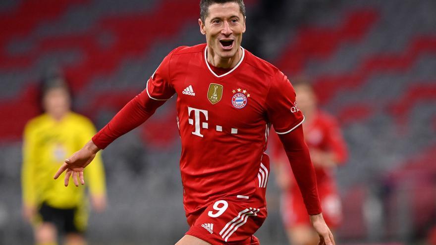 Lewandowski iguala el récord del 'Torpedo' Müller como máximo goleador en una temporada de la Bundesliga