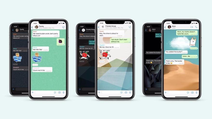 Llegan a WhatsApp nuevos fondos de pantalla y stickers
