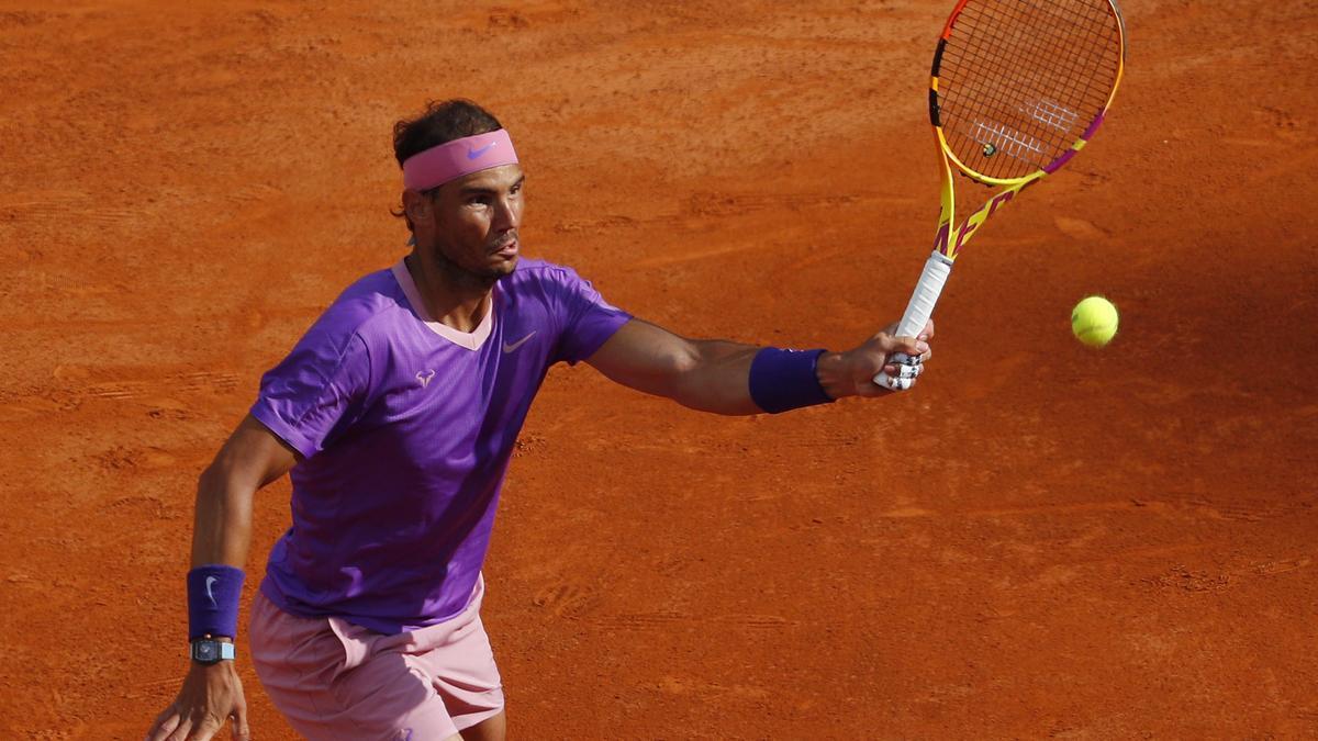 Rafa Nadal, at the Masters 1000 in Rome.