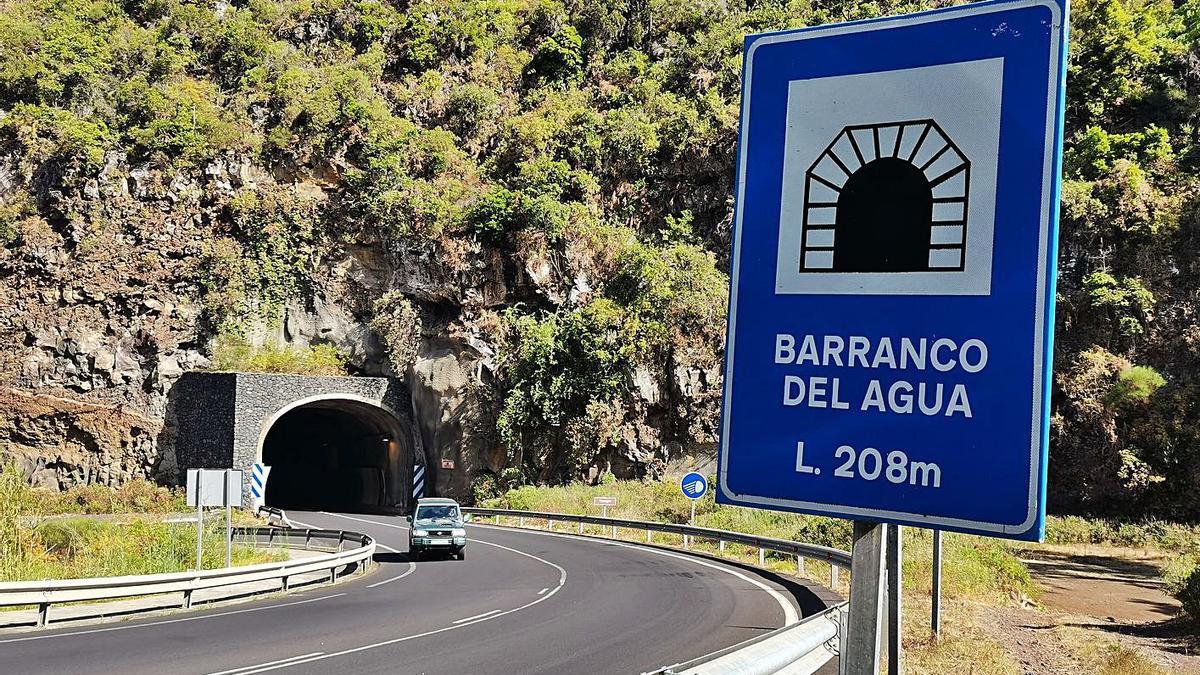 Túnel del Barranco del Agua, en Puntallana.