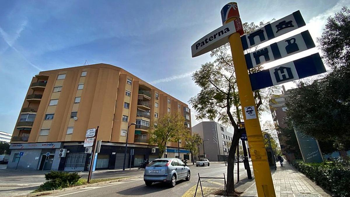 Entrada a Paterna por la avenida Vicente Mortes Alfonso. | A.P.