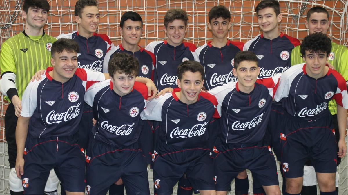 Galindo, a la derecha, con categorías inferiores de la Selección de Castilla y León