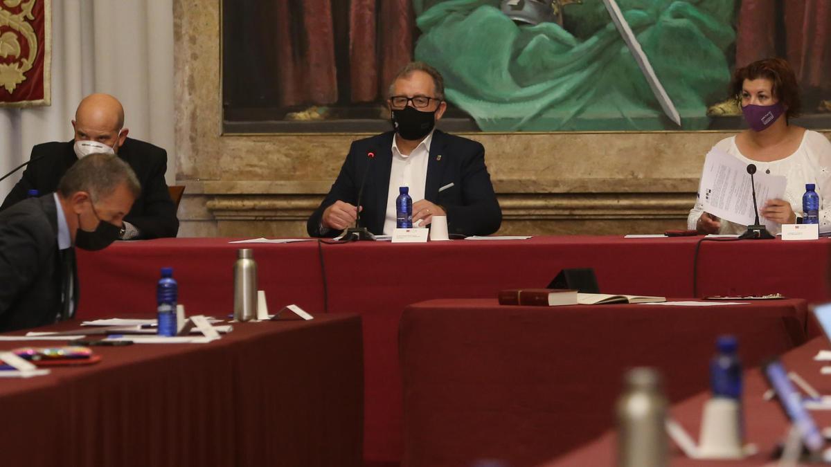 Imagen del pleno celebrado en la Diputación de Castellón.