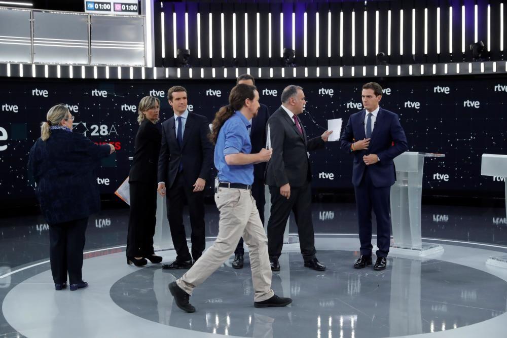 Debate a cuatro entre los principales líderes ...