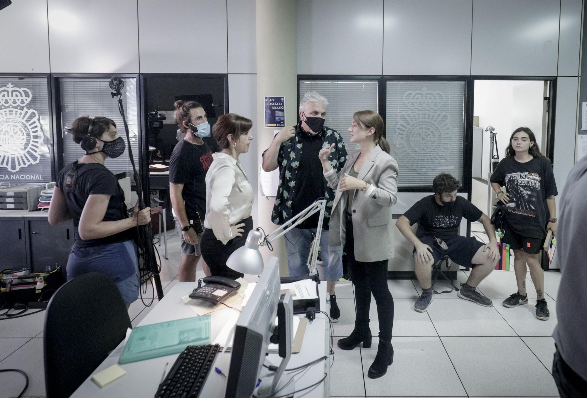 Toni Bestard convierte las instalaciones de Diario de Mallorca en un plató de cine