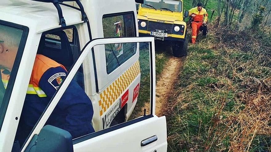 Protección Civil de Cabranes premia a los bomberos de Villaviciosa