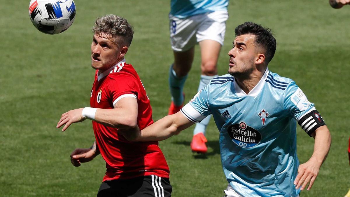 Lance del partido ante el Burgos disputado en la ida en Vigo.