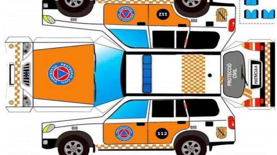 El Ajuntament de Vilafranca lanza recortables de los vehículos de la Policía Local y Protección Civil