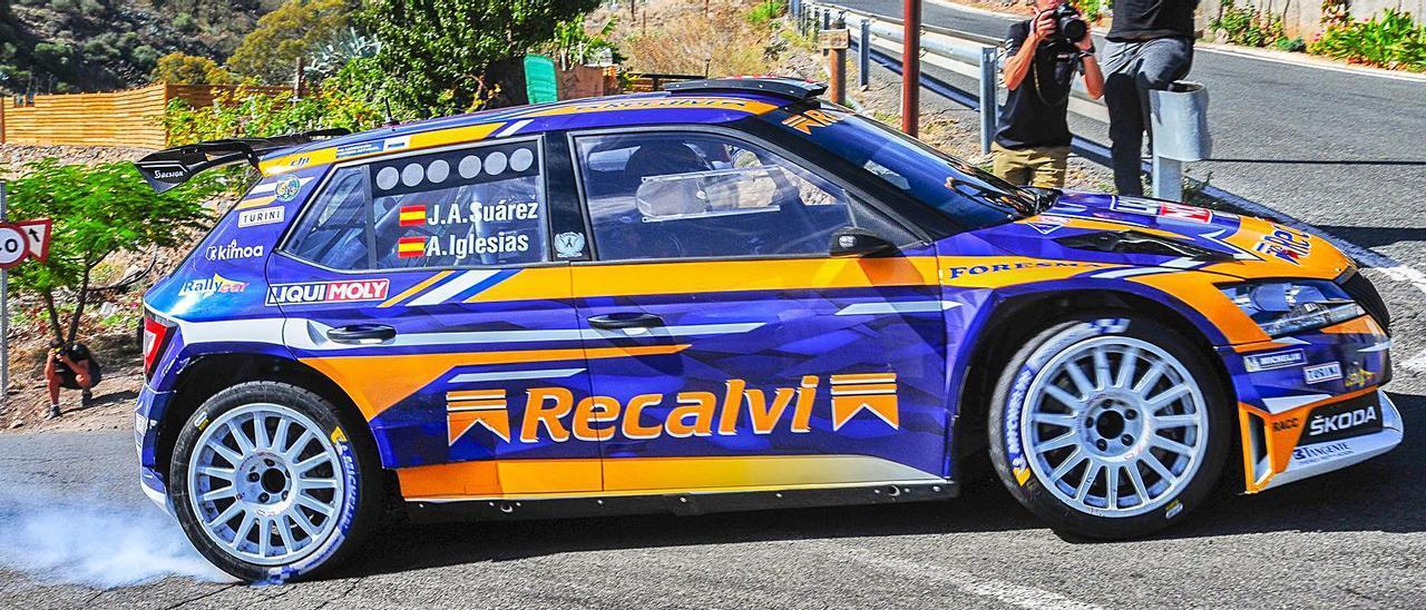 El asturiano 'Cohete' Suárez, aspirante al CERA, ayer, en sus test.