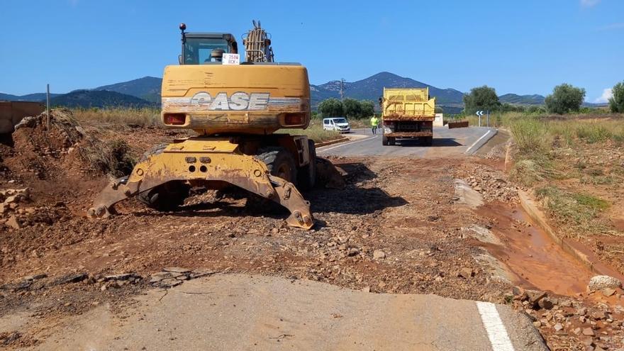 La DPZ arregla 14 carreteras dañadas por las lluvias torrenciales en Zaragoza