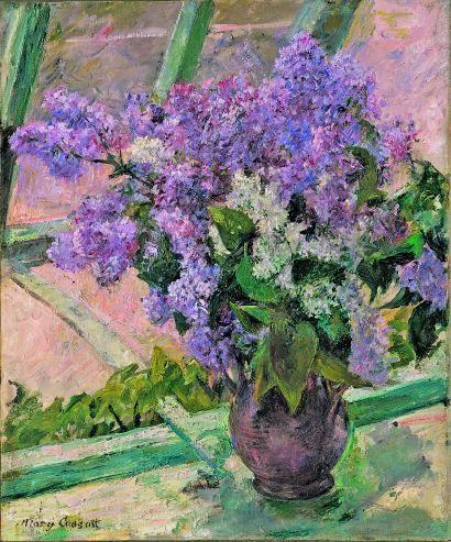 'Jarrón de lilas en una ventana' de Mary Cassat. VIQUIPÈDIA