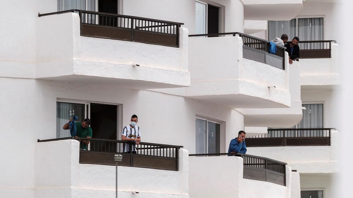 Inmigrantes alojados en Hotel.
