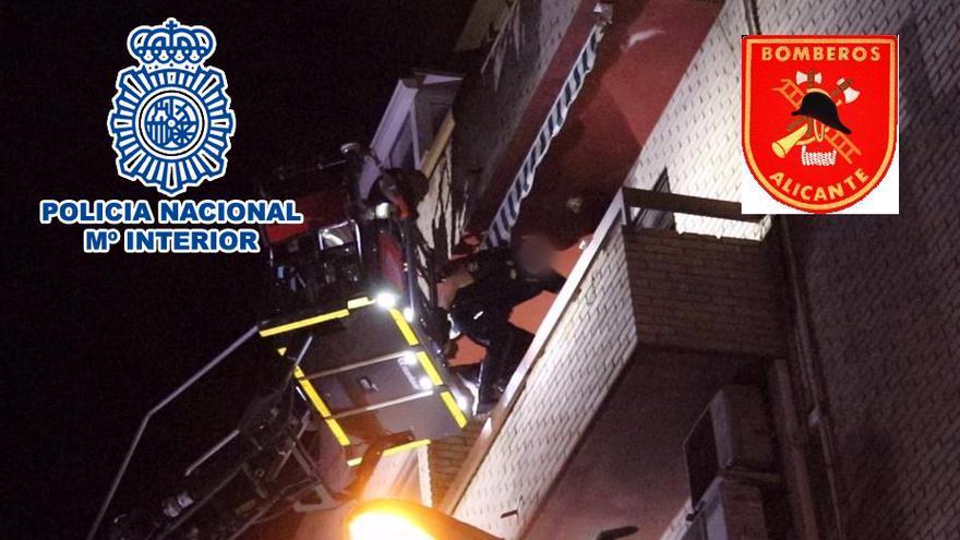 La Policía Nacional rescata en Alicante a una mujer tras ser retenida y amenazada por su hijo en su propio domicilio