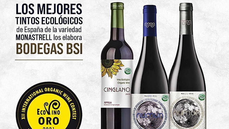 BSI, los mejores tintos ecológicos de España de la variedad Monastrell