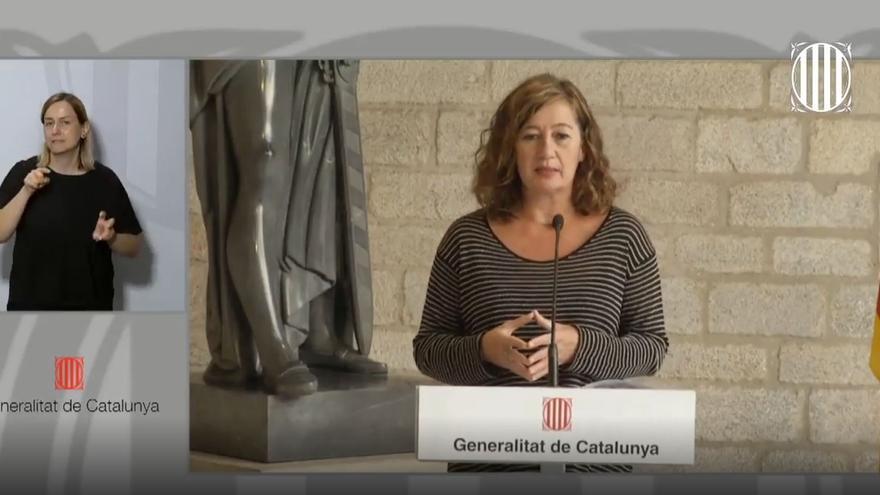 En directo | Comparecencia de Pere Aragonès y Francina Armengol