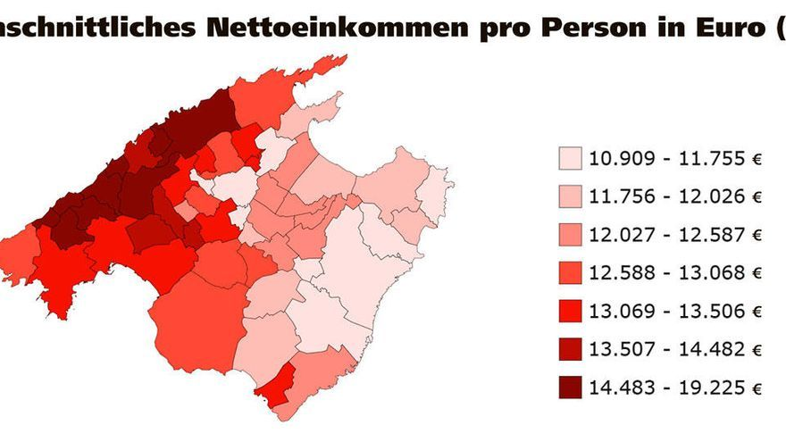 Neues Tool ermöglicht Einblicke in Armut und Wohlstand auf Mallorca