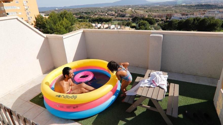 Alertan del riesgo de instalar piscinas portátiles en terrazas