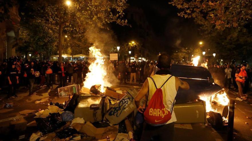 Nueva noche de disturbios en las calles de Barcelona