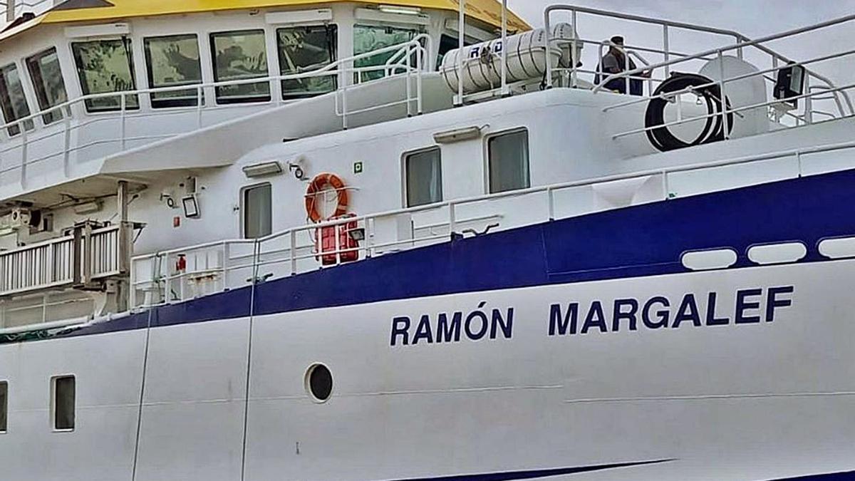 El 'Ramón Margalef', del Instituto Español de Oceanografía, uno de los tres buques que podría rastrear el fondo marino para buscar a Anna y Olivia.