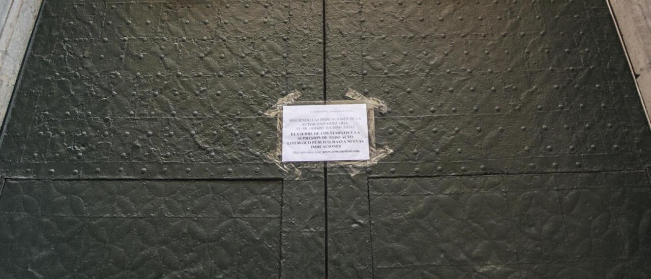 La Concatedral de San Nicolás, cerrada hasta el próximo lunes
