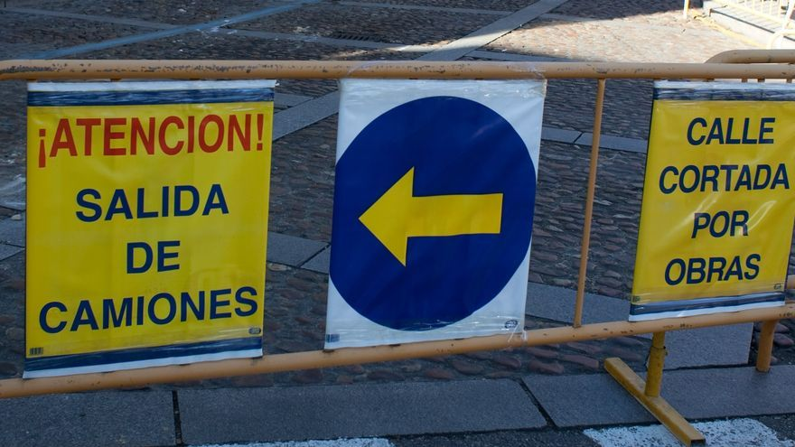 La plaza Sagasta, cortada al tráfico desde el lunes